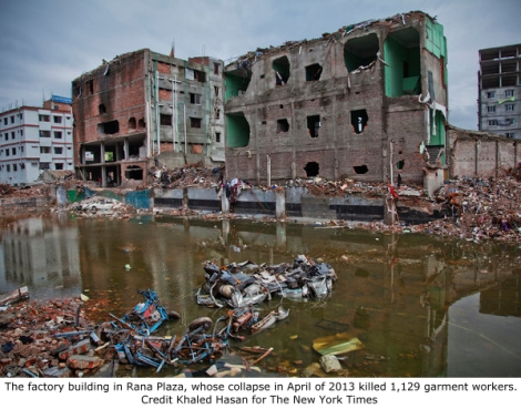 Bangladesh factory which collapsed in April, 2013.