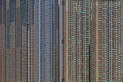 High-rise apartment buildings in Hong Kong - every window represents a family (or more).