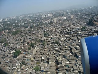 Dharavi slum area, Mumbai India